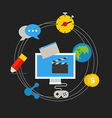 Communication technology concept vector image