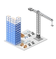 Industrial construction isometrics vector image