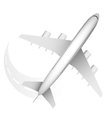 plane travel vector image