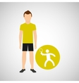 athlete man tennis sport graphic vector image