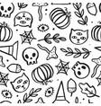 beautiful halloween seamless pattern vector image