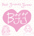 Best friends forever Hand lettering quote BFF vector image