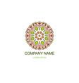 business logo floral oriental logo company logo vector image