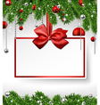 Christmas background with invitation card vector image