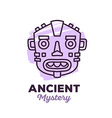 ethnic tribal purple color mask with text vector image