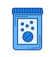 pill line icon vector image