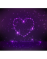 purple valentine background vector image