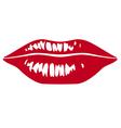 sensuality lips vector image