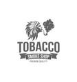 smoking emblem vector image