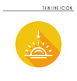 sun line simple icon weather symbols sunrise vector image