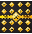 Toolbox attention yellow and black signs vector image