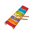 xylophone childrens toy vector image