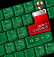 2017 Creative Keyboard Christmas Calendar vector image