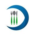 Restaurant Menu Label Template vector image