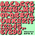 Graffiti Letters and Numbers vector image