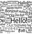 Hello foreign seamlees vector image