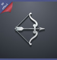 bow and arrow icon symbol 3D style Trendy modern vector image