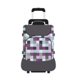 Journey suitcase travel bag trip baggage vacation vector image