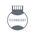 logo SIM card technology vector image