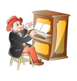man playing the piano vector image