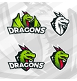 Dragon logo template Sport mascot design College vector image