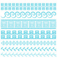 antique greek border blue line vector image