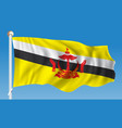 flag of brunei vector image vector image
