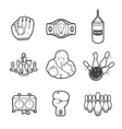 Collection of sport icons vector image