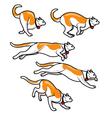 Cat Running Fast Sprite vector image vector image