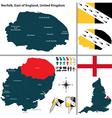 Norfolk East of England vector image