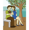 Valentine s day cartoon vector image vector image