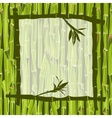 Hand-drawn green bamboo frame bacground with space vector image
