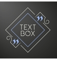 Citation text box Frame for decoration quote vector image