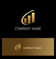 arrow progress business finance gold logo vector image