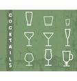 Beverage thin line symbol icon Cocktails vector image