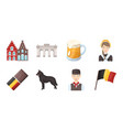 country belgium icons in set collection for design vector image