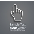Hand icon with shaddows vector image