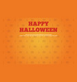 happy halloween background collection style vector image