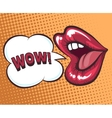 Mouth with speach bubble vector image