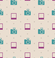 Retro Seamless Texture with Snapshots and Cameras vector image