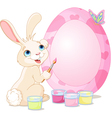 Easter Bunny painting Easter Egg Vector Image