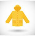 Raincoat flat icon vector image