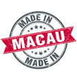 made in macau red round vintage stamp vector image