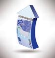 Euro 20 arrow vector image