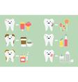 set of teeth problem vector image