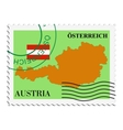 mail to-from Austria vector image vector image