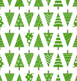 Abstract christmas trees seamless background vector image