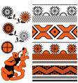 Ancient american ornaments vector image