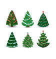 christmas tree ornament star xmas gift vector image