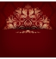 Elegant filigree ornament on seamless vector image